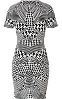 McQ by Alexander McQueen Optical Houndstooth Print Dress - Lyst