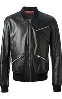 Dolce & Gabbana Leather Jacket - Lyst