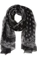Saint Laurent Bandanaprint Scarf - Lyst