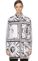 Versus  Mixed Print Anthony Vaccarello Edition Blouse - Lyst