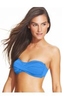 Anne Cole Twistfront Bandeau Bikini Top - Lyst