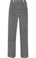 Isabel Marant Mikhail Printed Silk Wideleg Pants - Lyst