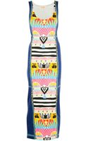 Mara Hoffman Sunrise Navy Fitted Tank Maxi Dress - Lyst
