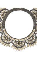 BCBGMAXAZRIA Metalspike Bib Necklace - Lyst