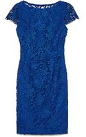 Vince Camuto Short Sleeve Lace Dress - Lyst