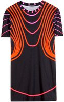 Christopher Kane Grid Face Printed Cotton Tshirt - Lyst