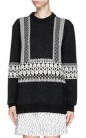Chloé Graphic Knit Wool Sweater - Lyst