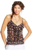 American Rag Printed Ruffled Top - Lyst