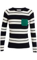 Chinti & Parker Striped Cashmere Sweater - Lyst
