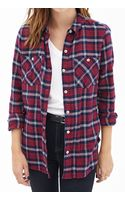 Forever 21 Tartan Plaid Cotton Shirt - Lyst