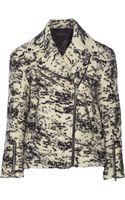 Rag & Bone Monaco Printed Wool-blend Biker Jacket - Lyst