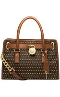 Michael Kors Michael Hamilton Studded East West Satchel - Lyst