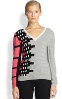Risto Mixedpattern Intarsia Cotton Sweater - Lyst