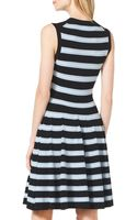 Michael Kors Sleeveless Striped Knit Dress - Lyst