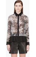 Giambattista Valli Black Silk Polka Dot Blouse - Lyst