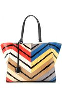 Fendi 3jours Snakeskin Leather Tote - Lyst