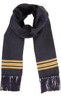 Alexander McQueen Silk Military Stripe Scarf - Lyst