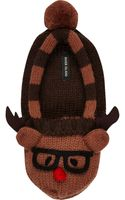 River Island Brown Reindeer Slipper Socks - Lyst