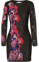 Emilio Pucci Floralappliquéd Lace Mini Dress - Lyst