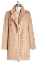 The Style London Ladies Fur-st Coat in Camel - Lyst