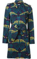 M Missoni Printed Trench Coat - Lyst