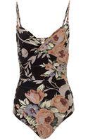 Zimmermann Rococo Floral Keeper Swimsuit - Lyst