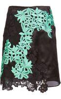 3.1 Phillip Lim Satin  Floral Lace Skirt - Lyst