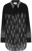 3.1 Phillip Lim Embellished Feather Print Silk Shirt - Lyst