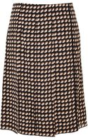 Marc Jacobs Printed Frontpleat Skirt - Lyst