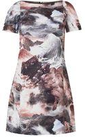 Carven Waveprint Shift Dress - Lyst