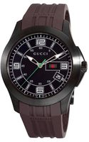 Gucci Mens G Timeless Brown Rubber Strap - Lyst