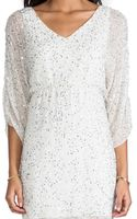 Alice + Olivia Alice Olivia Olympia Embellished Tunic Dress in White - Lyst