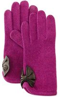 Portolano Cashmere-blend Bow-detailed Tech Gloves - Lyst