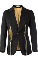 Comme Des Garçons Leopard Pattern Zipped Blazer - Lyst