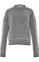 Jil Sander Womens Diamond Stitch Sweater - Lyst
