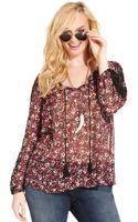 Jessica Simpson Plus Size Floral-print Peasant Top - Lyst