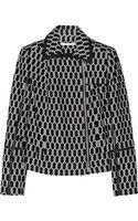 Diane Von Furstenberg Tris Leather-trimmed Jacquard Jacket - Lyst