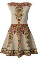 Valentino Intarsia Knit Flared Dress - Lyst
