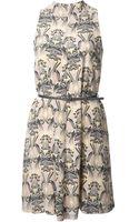 M Missoni Sleeveless Printed Dress - Lyst