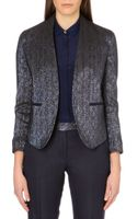 Paul Smith Black Label Metallic Cropped Jacket - Lyst