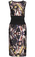 Oscar de la Renta Printed Silk and Cotton Dress - Lyst