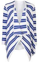 Yigal Azrouel Striped Intarsia Cardigan Sweater - Lyst