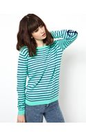 Asos Striped Jumper with Anchor Patches - Lyst