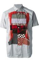 Comme Des Garçons Patchwork Short Sleeve Shirt - Lyst