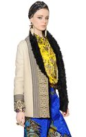 Etro Embroidered Shearling Fur Jacket - Lyst