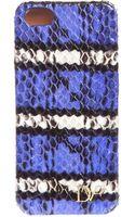 Diane Von Furstenberg Iphone Case Striped Snake - Lyst