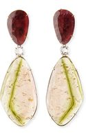 Marco Bicego One-of-a-kind 18k Watermelon Tourmaline Earrings with Diamonds - Lyst