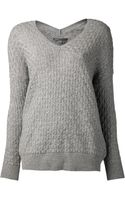 Vince Brick Textured Sweater - Lyst