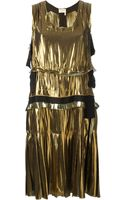 Lanvin Metallic Washed Lame Dress - Lyst