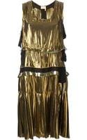 Lanvin Metallic Washed Lame Dress - Lyst